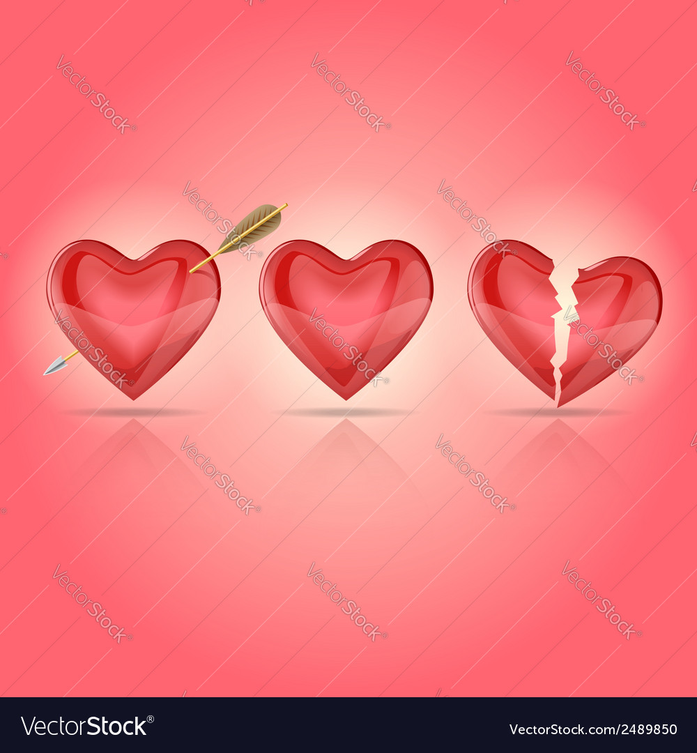 Hearts 2 vector | Price: 1 Credit (USD $1)