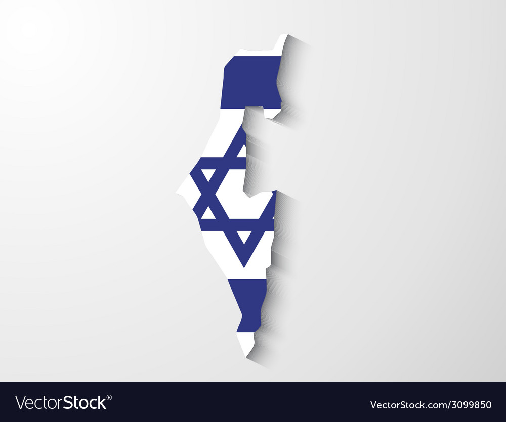 Israel map with shadow effect presentation vector   Price: 1 Credit (USD $1)