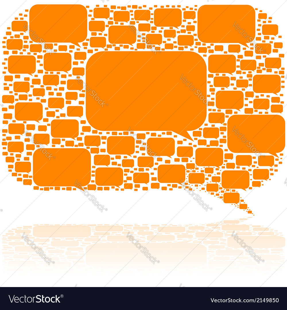 Talk bubbles vector | Price: 1 Credit (USD $1)