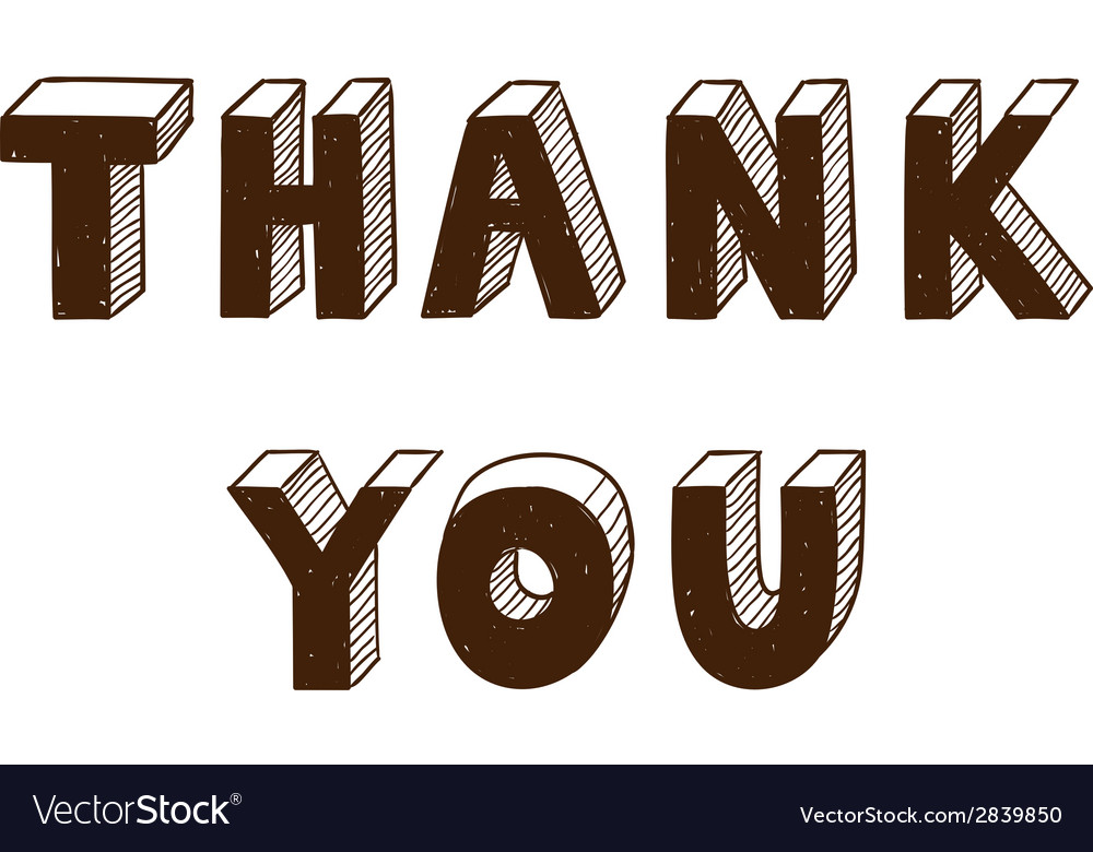 Thank you text vector | Price: 1 Credit (USD $1)