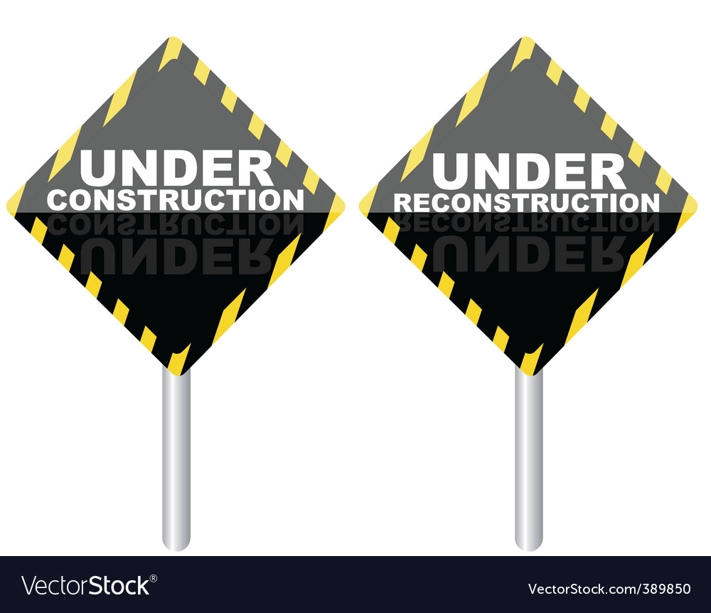 Under reconstruction sign vector   Price: 1 Credit (USD $1)