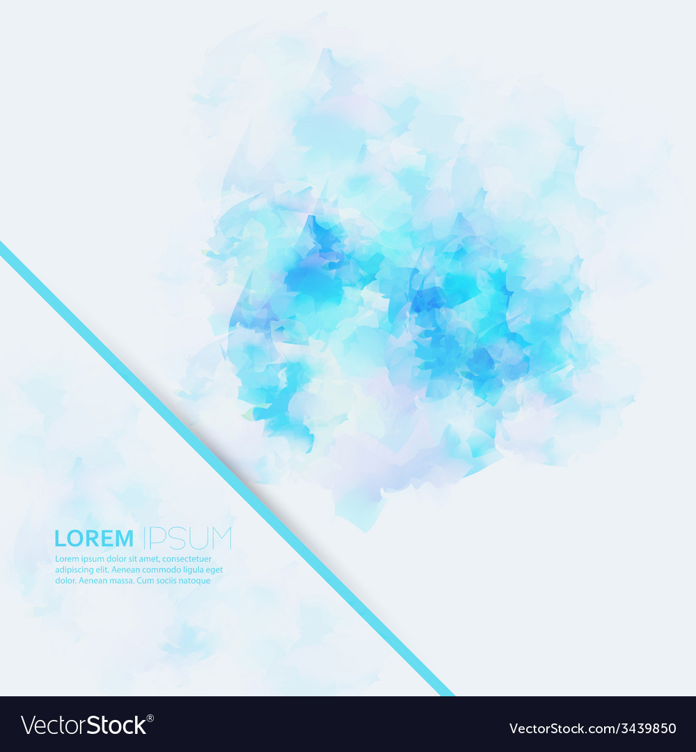 Watercolor abstract background with space for text vector | Price: 1 Credit (USD $1)