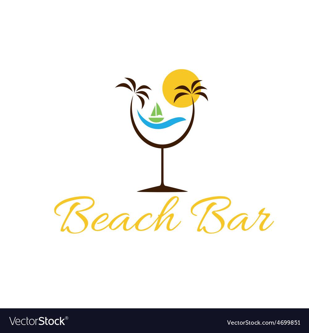 Beach bar vector | Price: 1 Credit (USD $1)