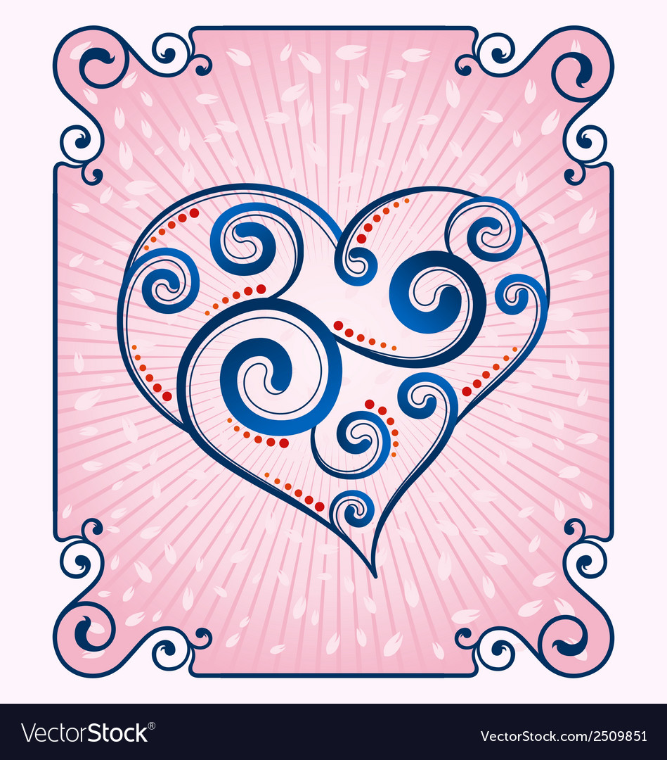 Decorative heart symbol vector | Price: 1 Credit (USD $1)