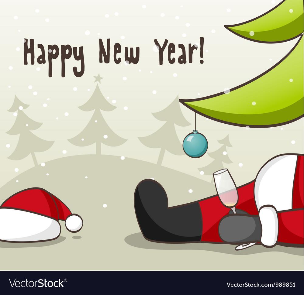 Drunk santa claus vector | Price: 1 Credit (USD $1)