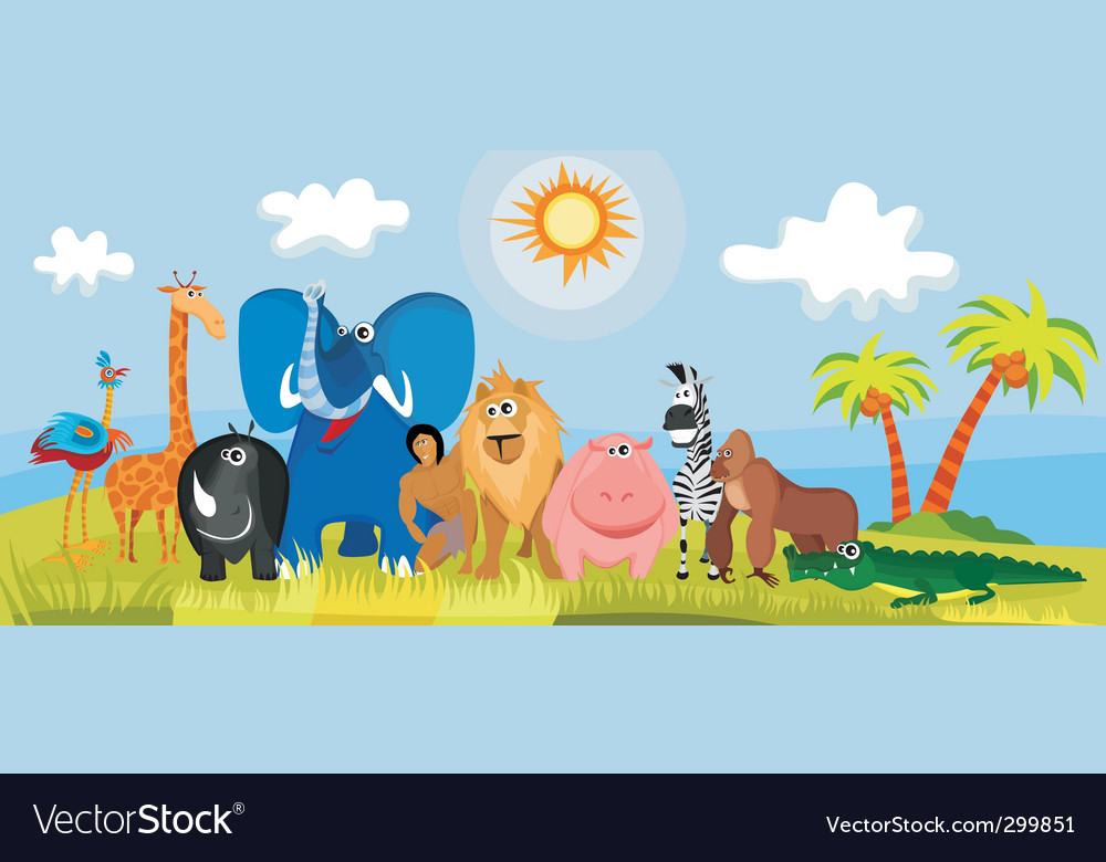 Jungle animals vector | Price: 3 Credit (USD $3)