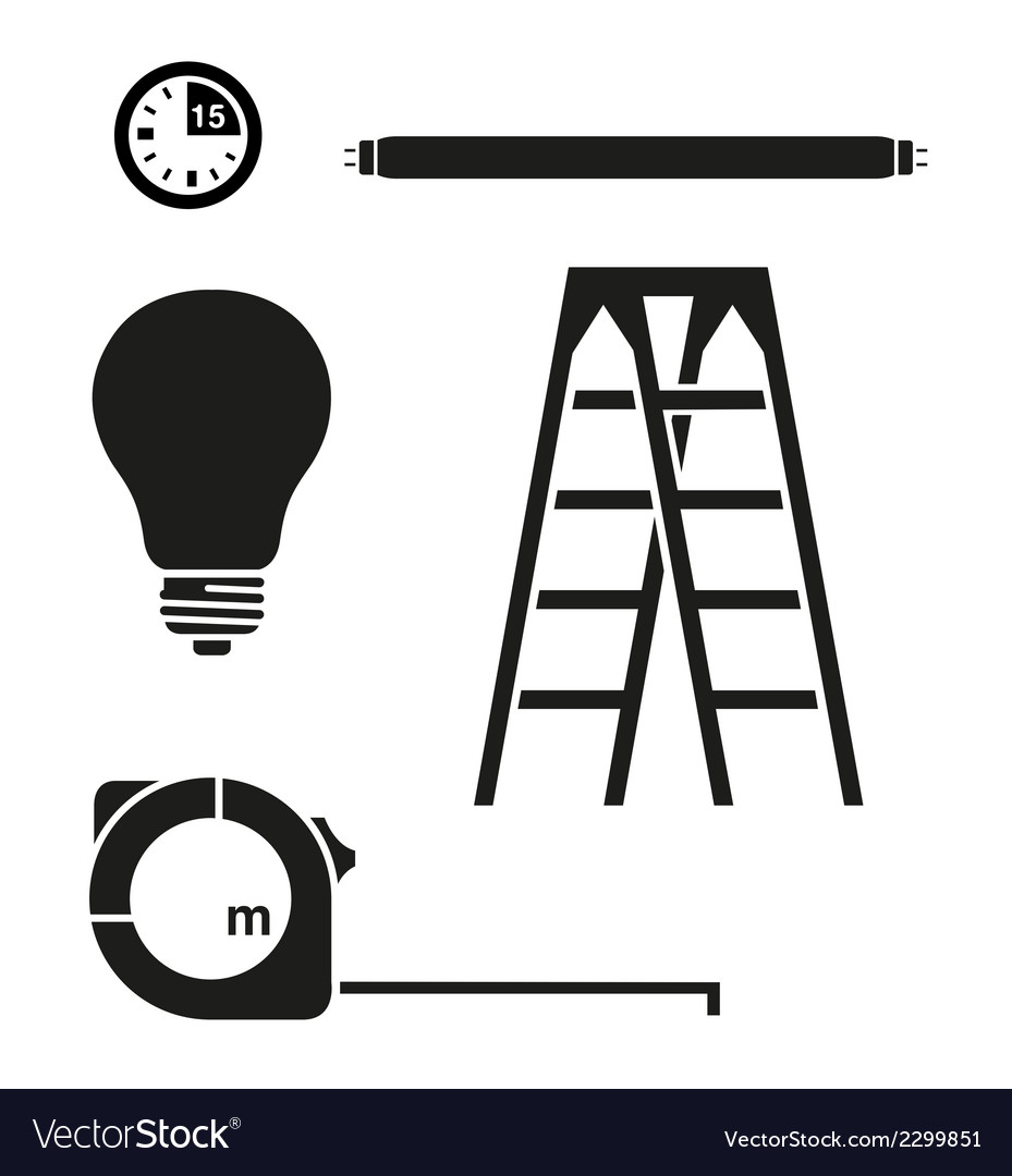 Ladder and electric house set vector | Price: 1 Credit (USD $1)
