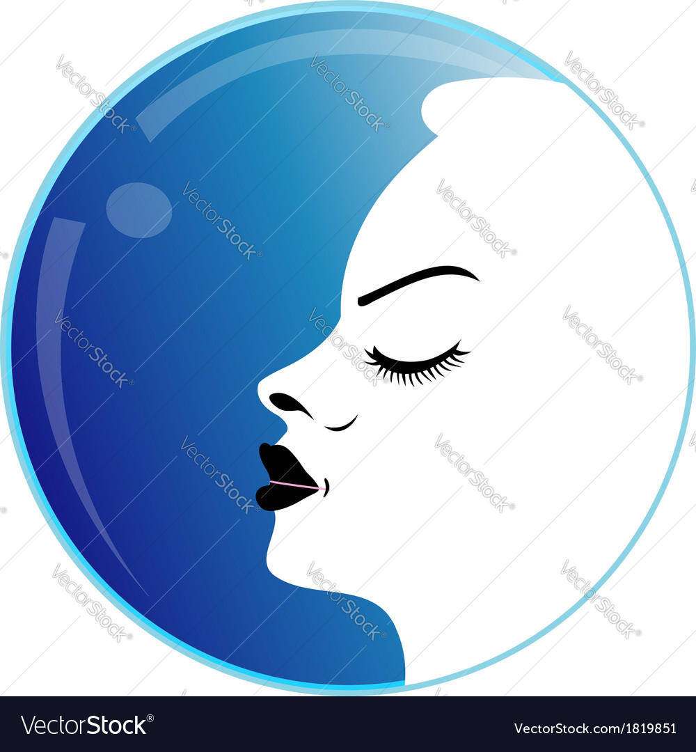 Lady with a pout vector | Price: 1 Credit (USD $1)