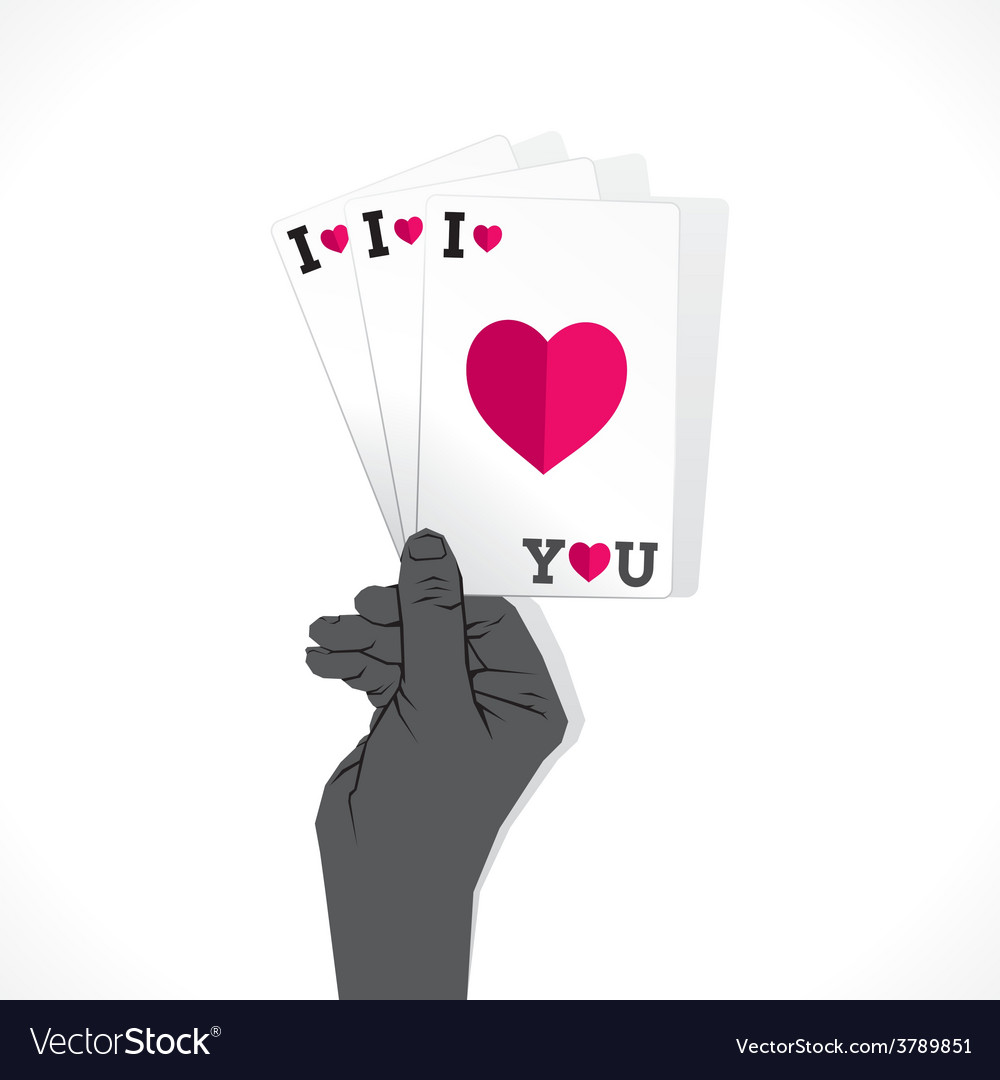 Love card or valentine day greeting card vector | Price: 1 Credit (USD $1)