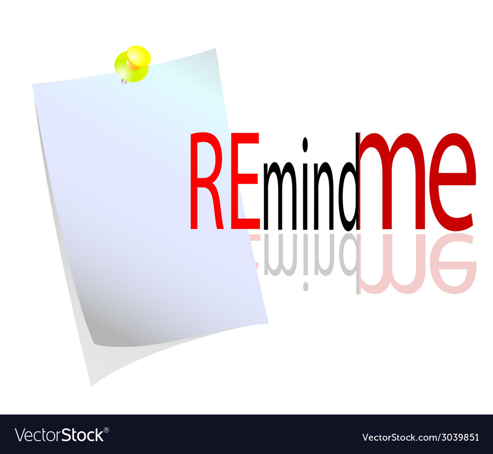 Reminder with message vector | Price: 1 Credit (USD $1)