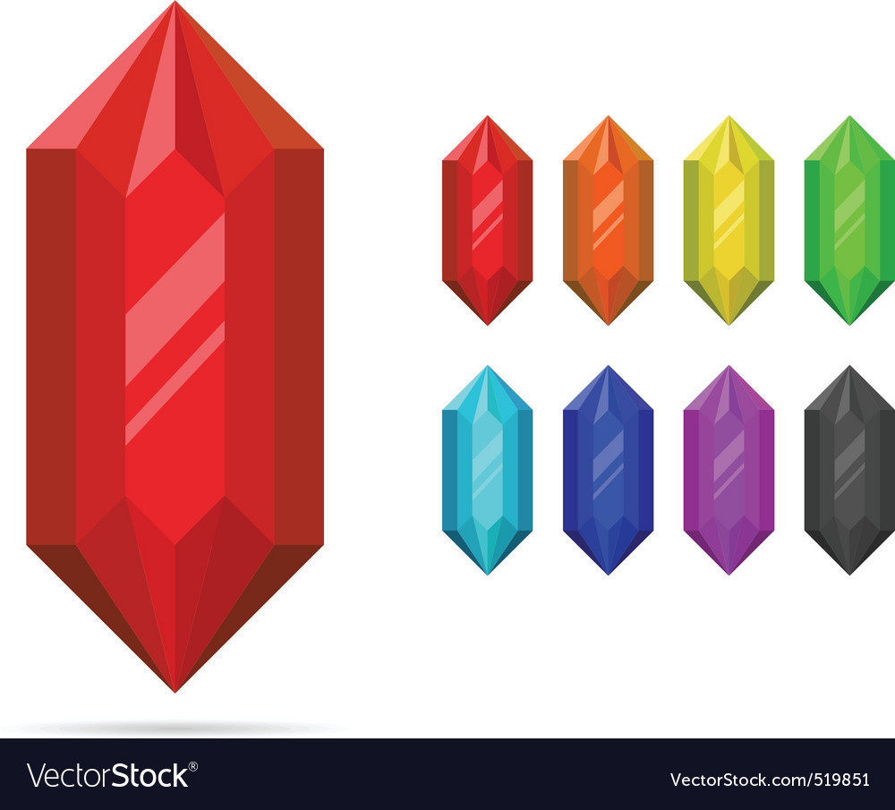 Set of crystals vector | Price: 1 Credit (USD $1)