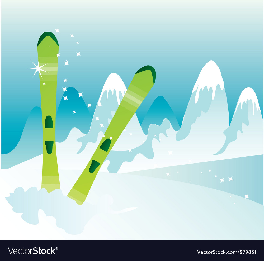 Skis vector | Price: 1 Credit (USD $1)