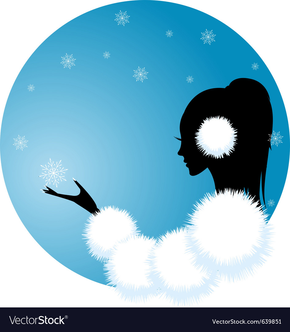Snow lady vector | Price: 1 Credit (USD $1)