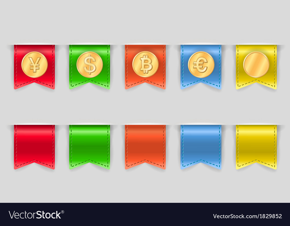 Collection of coins for finance vector | Price: 1 Credit (USD $1)