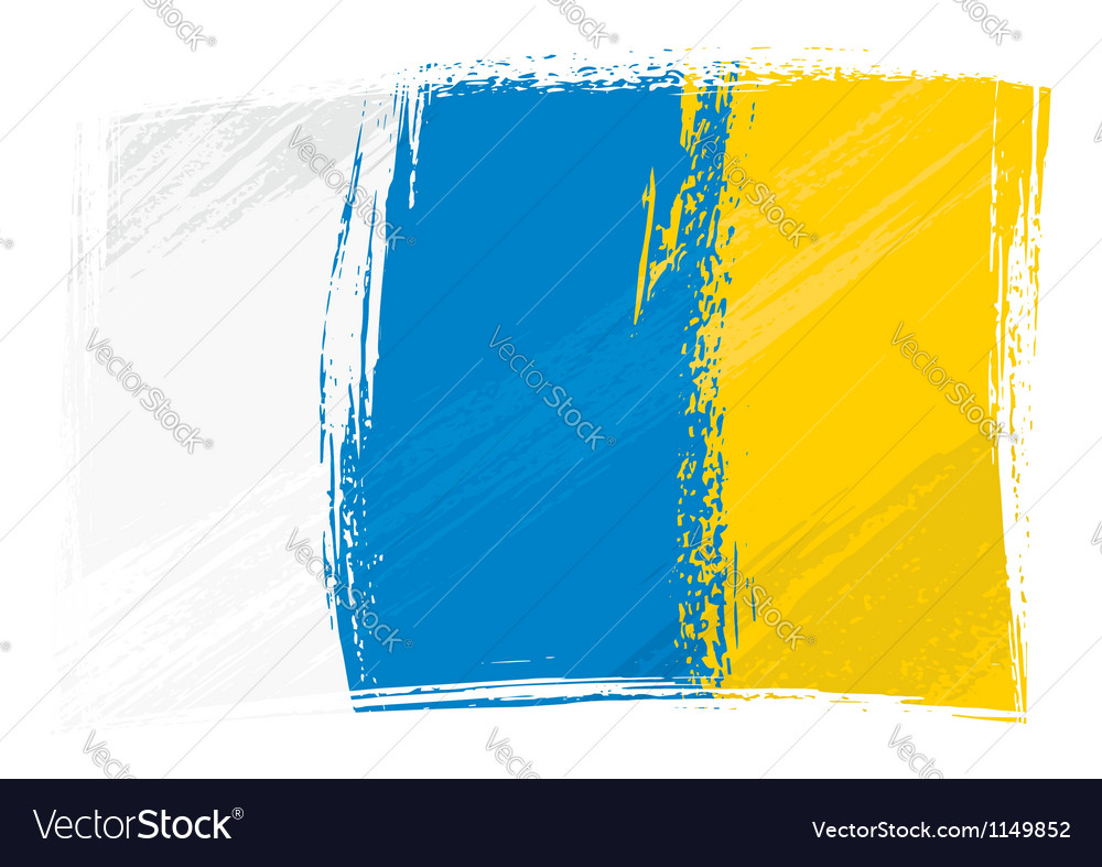 Grunge canary islands flag vector | Price: 1 Credit (USD $1)