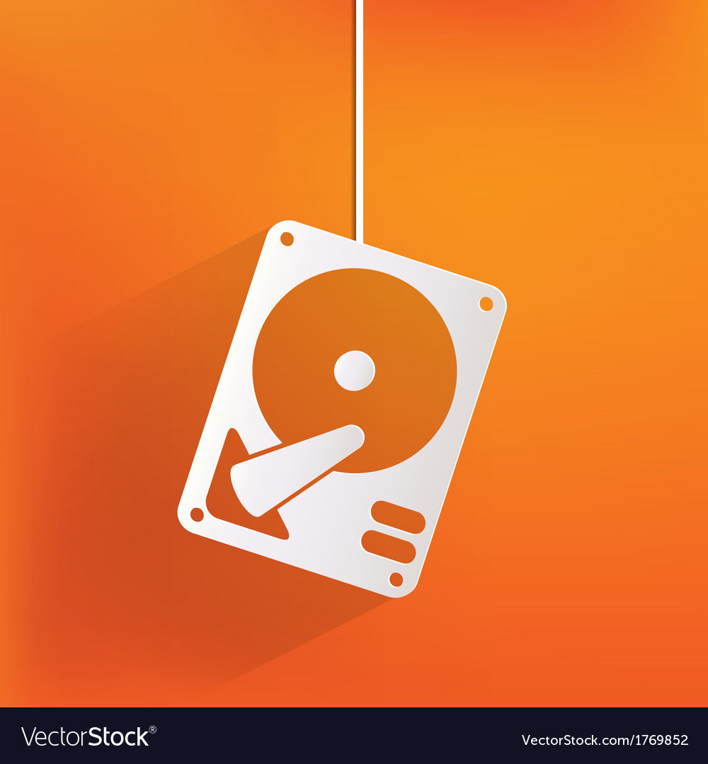 Hard disc icon vector | Price: 1 Credit (USD $1)