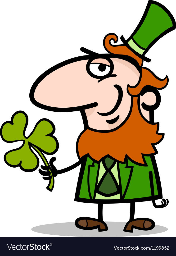 Leprechaun with clover cartoon vector | Price: 1 Credit (USD $1)