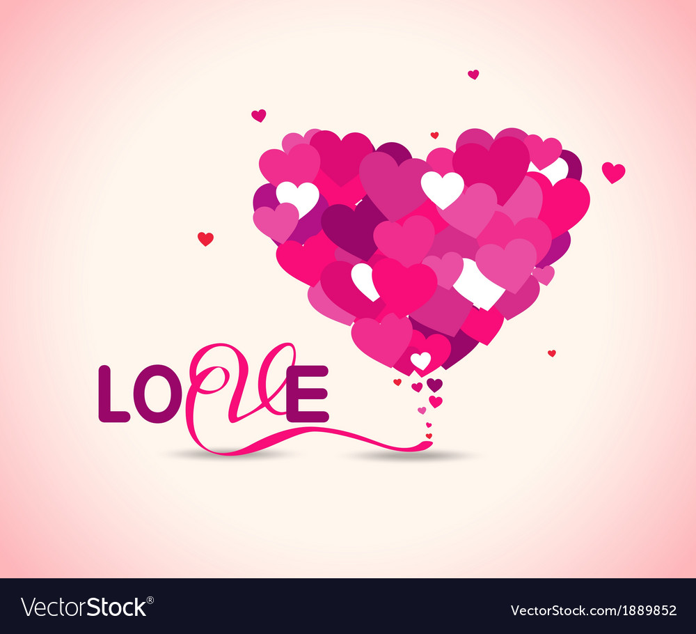 Pink love hearts vector | Price: 1 Credit (USD $1)