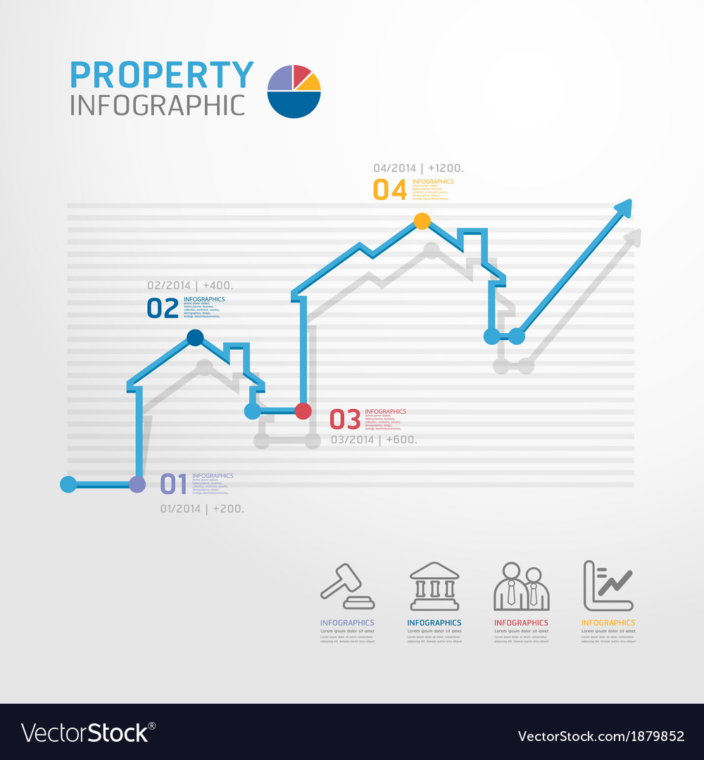 Property business diagram line style vector | Price: 1 Credit (USD $1)
