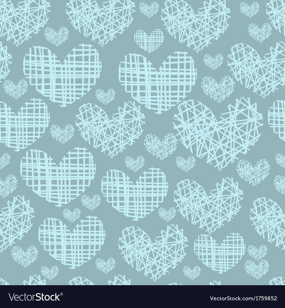 Seamless pattern with embroidery of hearts vector | Price: 1 Credit (USD $1)