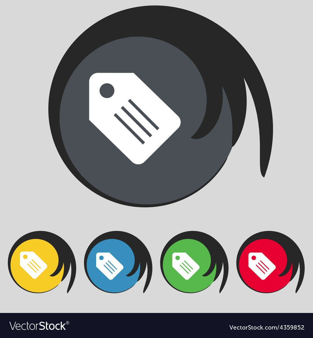 Special offer label icon sign symbol on five vector | Price: 1 Credit (USD $1)