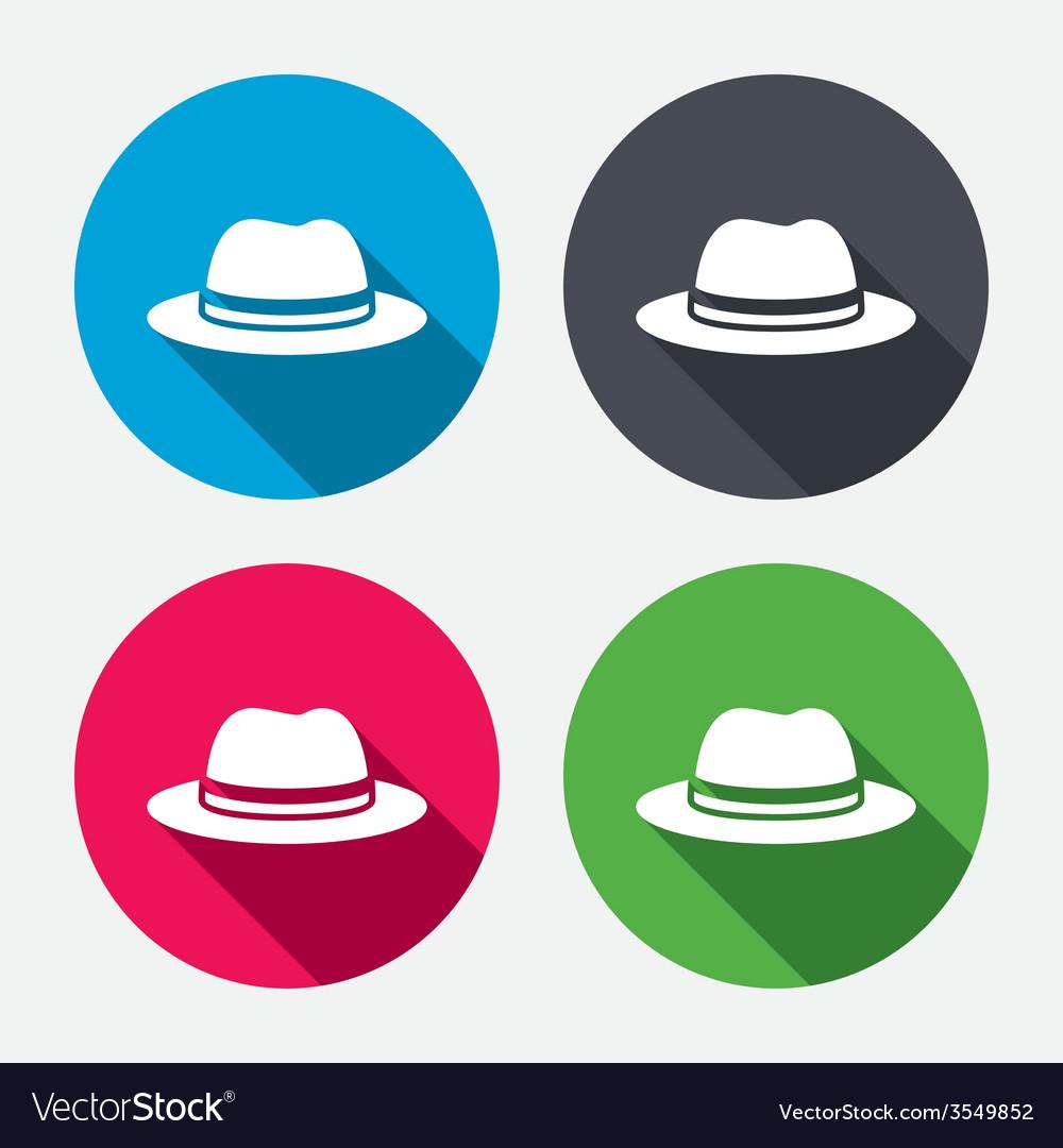 Top hat sign icon classic headdress symbol vector | Price: 1 Credit (USD $1)