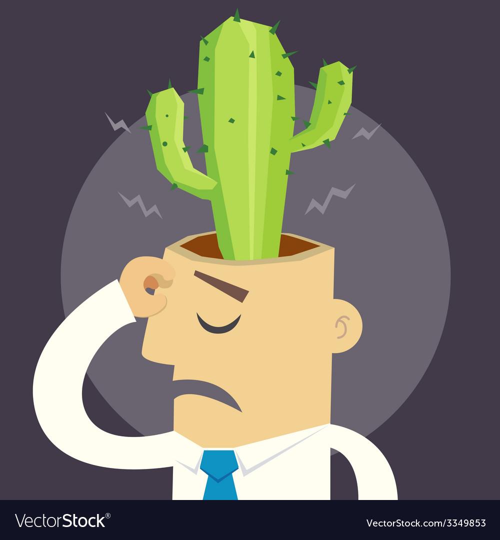 Cactus man vector | Price: 3 Credit (USD $3)