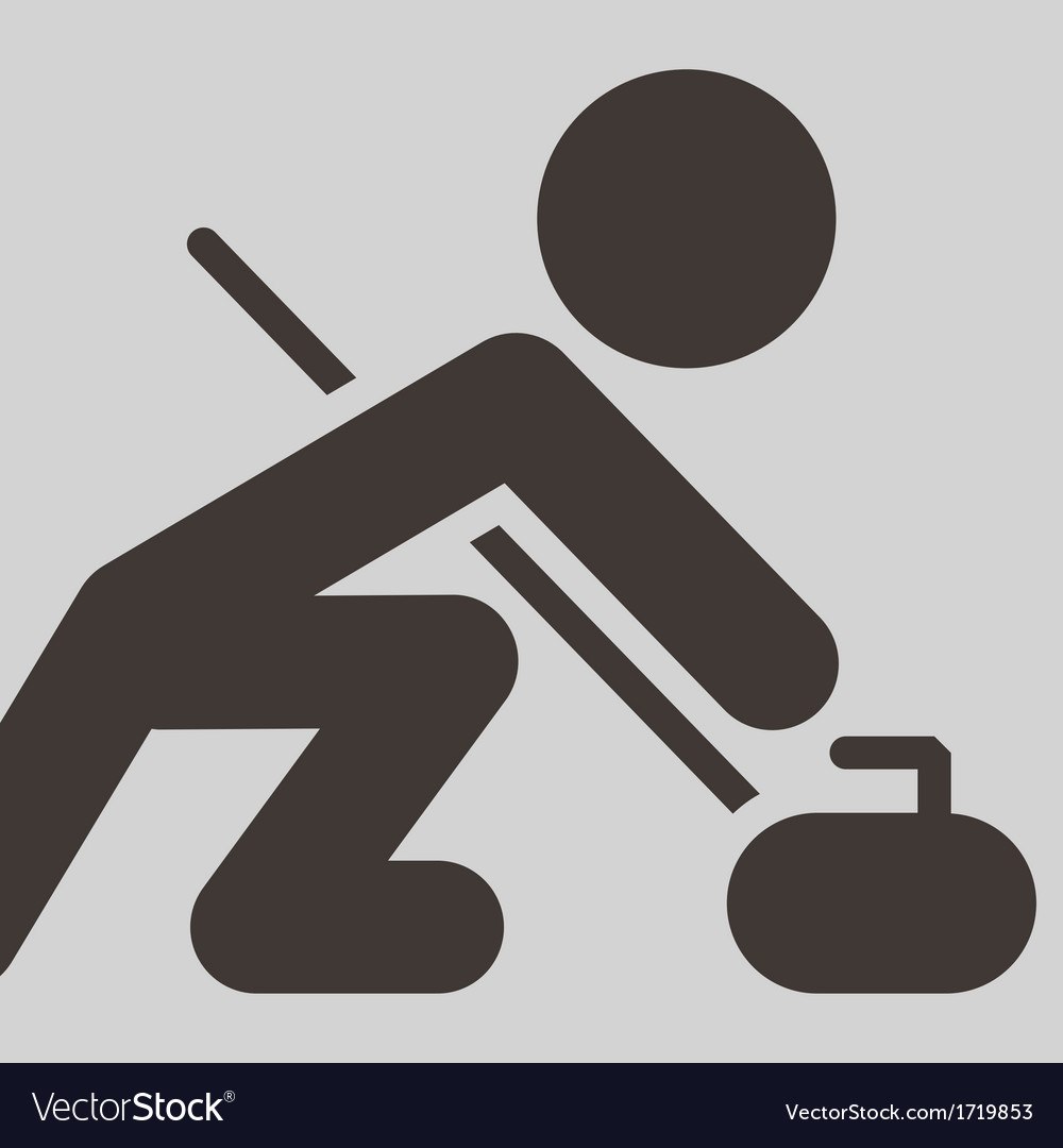 Curling icon vector | Price: 1 Credit (USD $1)