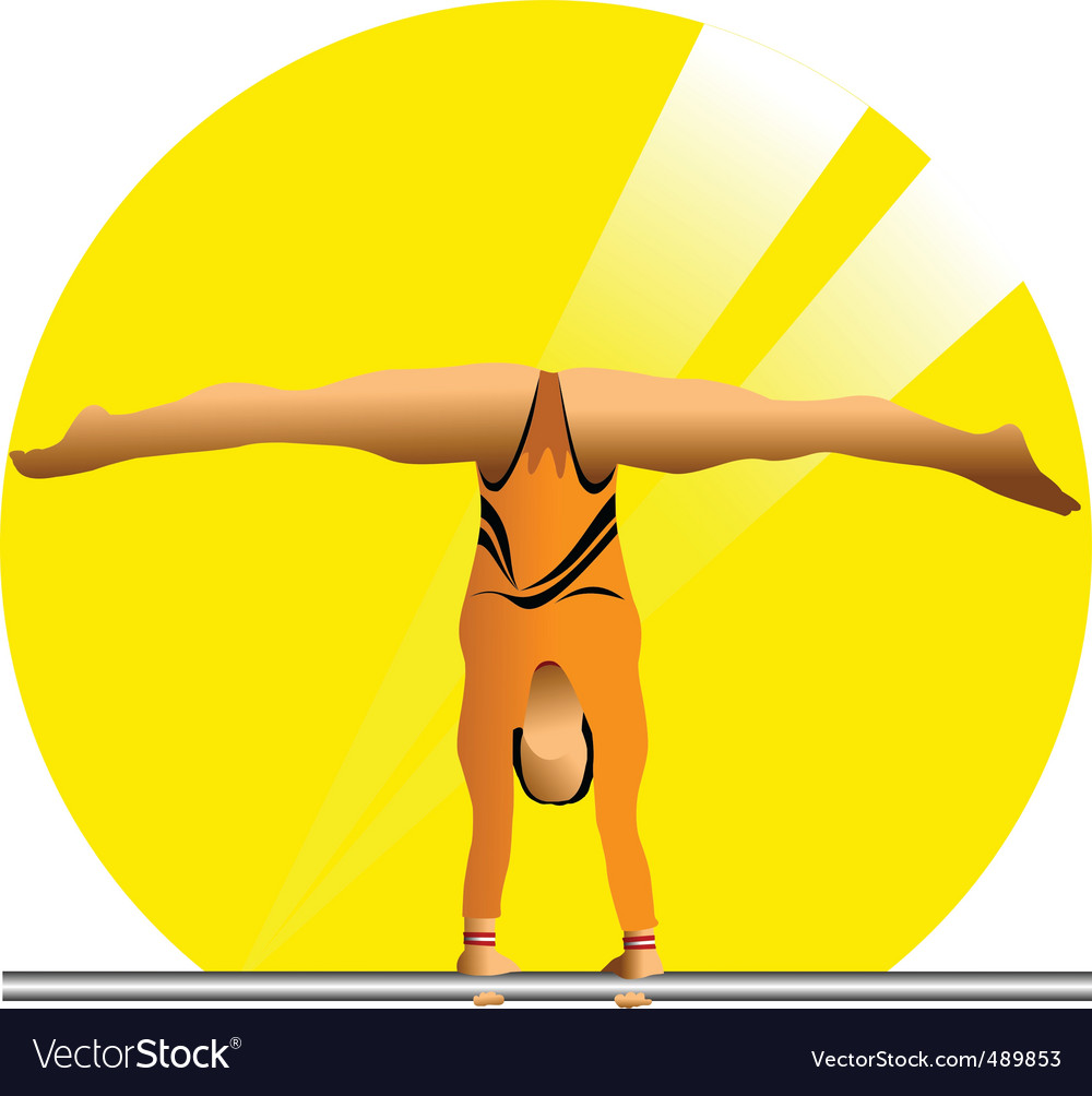 Female gymnast vector | Price: 1 Credit (USD $1)