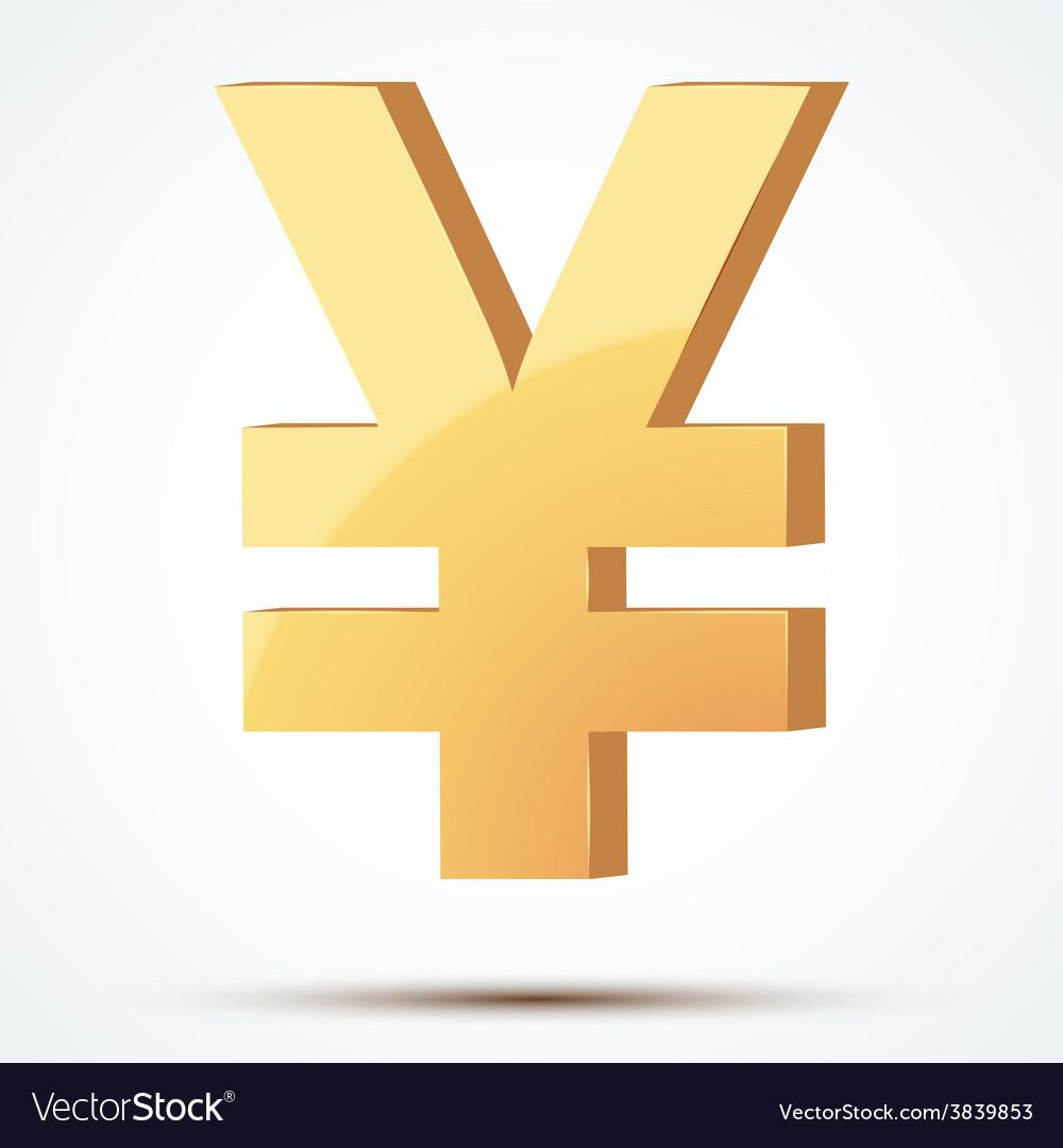 Golden symbol of yen vector | Price: 1 Credit (USD $1)