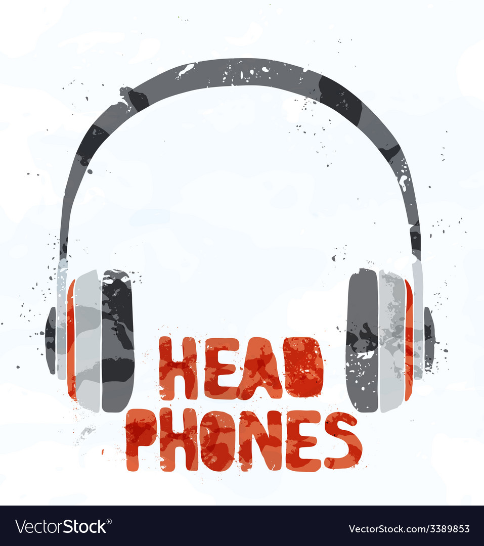 Headphones from multi-colored spots vector | Price: 1 Credit (USD $1)