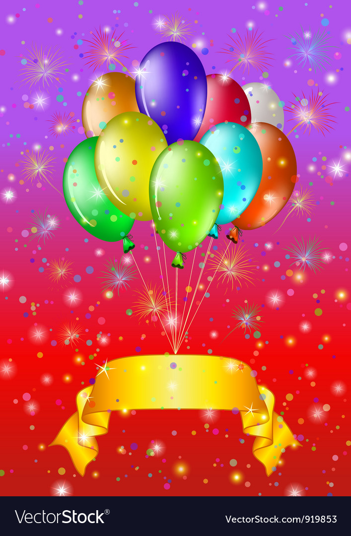 Holiday background with balloons vector | Price: 1 Credit (USD $1)