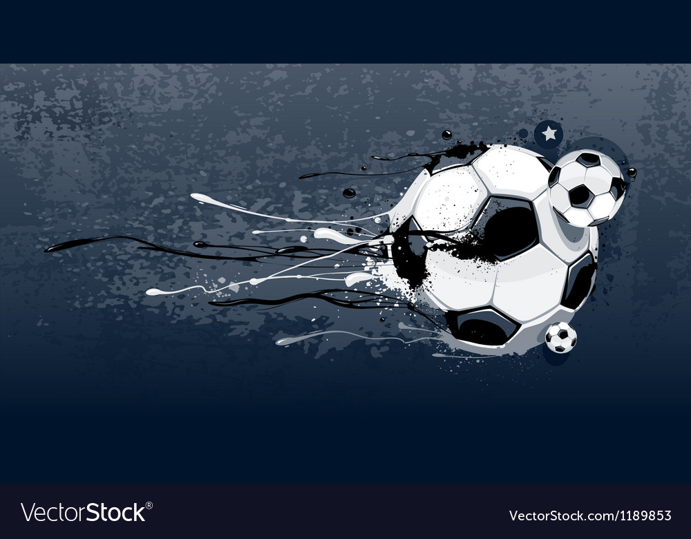 Liquid graffiti football vector | Price: 3 Credit (USD $3)