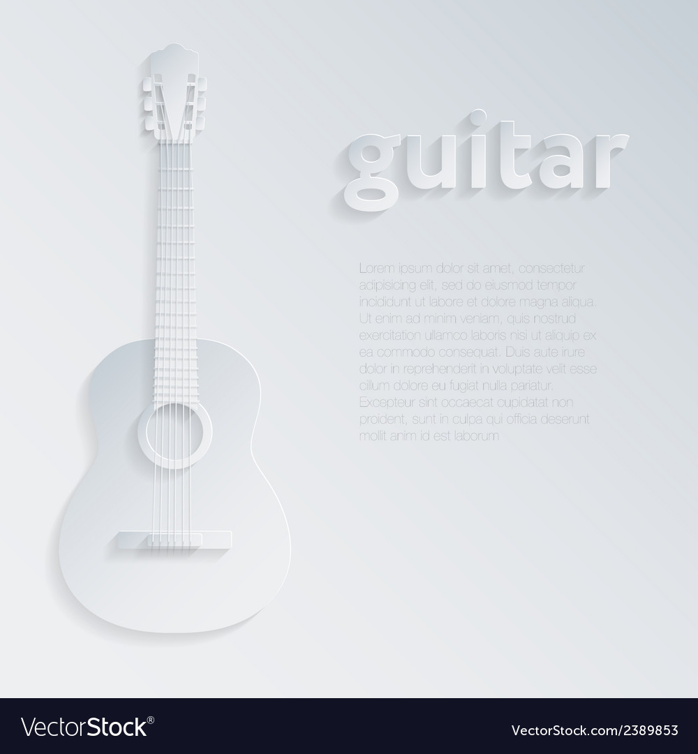 With a shadow guitar vector | Price: 1 Credit (USD $1)