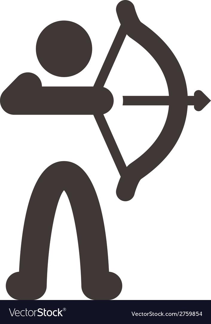 Archery icon vector | Price: 1 Credit (USD $1)