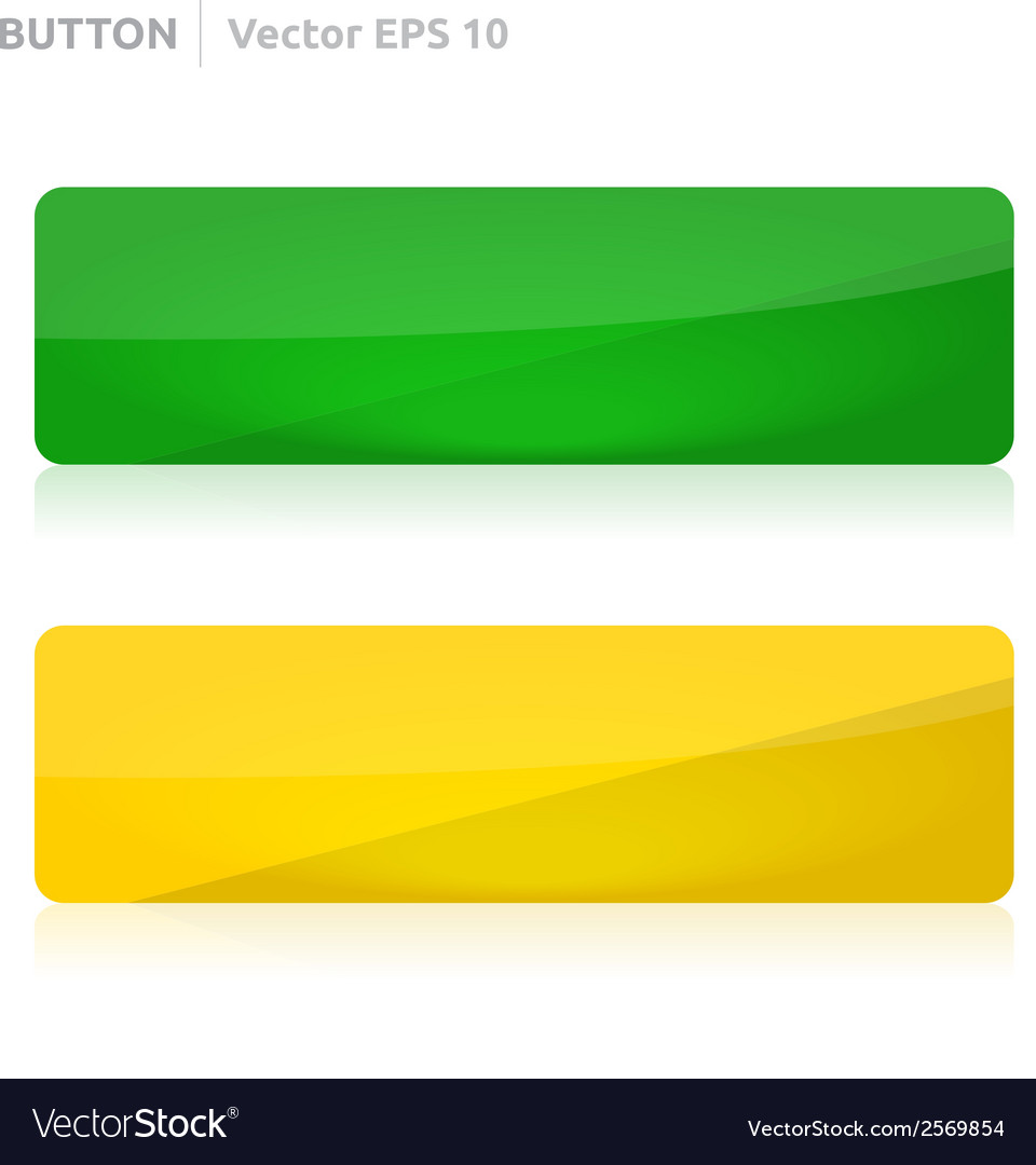 Button template web yellow and green vector | Price: 1 Credit (USD $1)