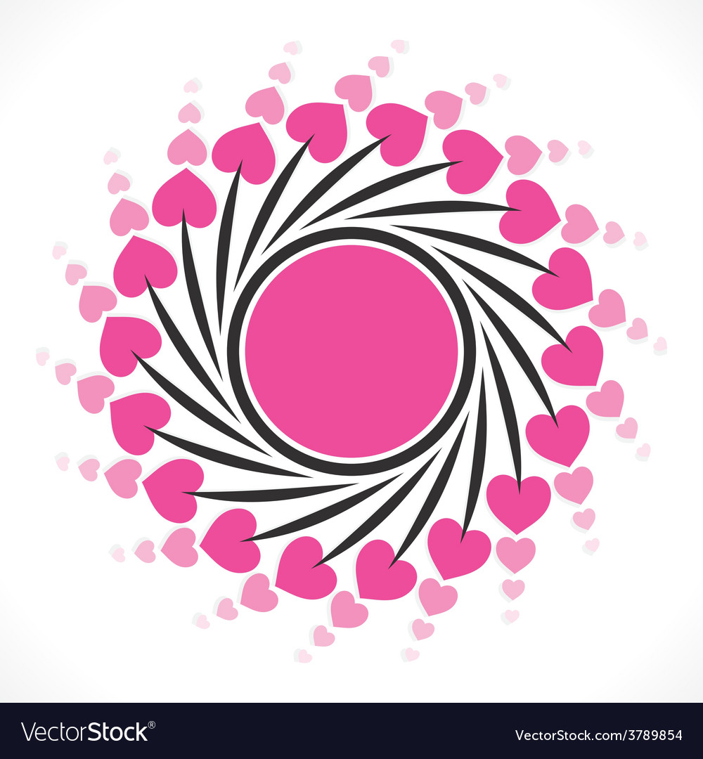Creative valentine day greeting design vector