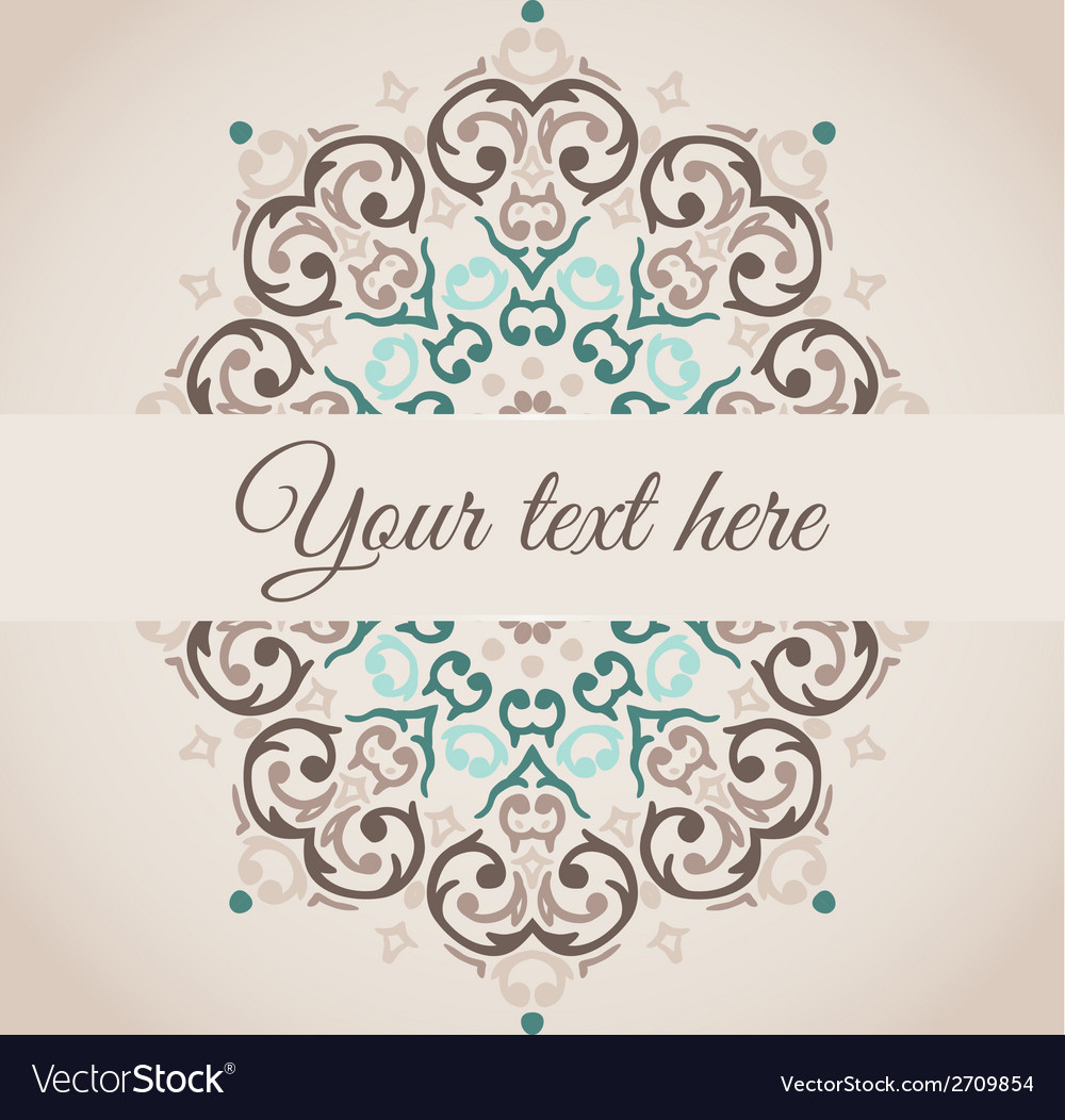 Damask circular ornamental frame with a place for vector | Price: 1 Credit (USD $1)