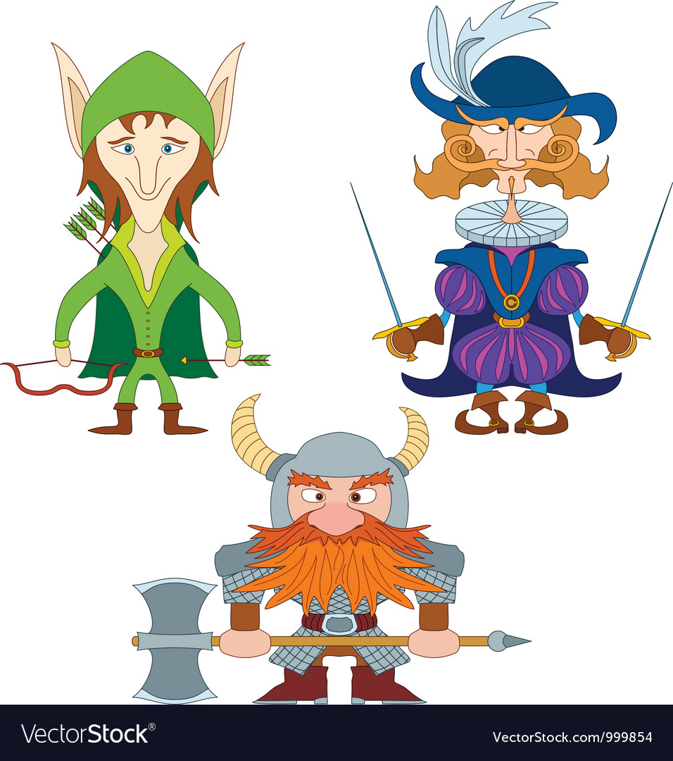 Fantasy heroes set vector | Price: 3 Credit (USD $3)