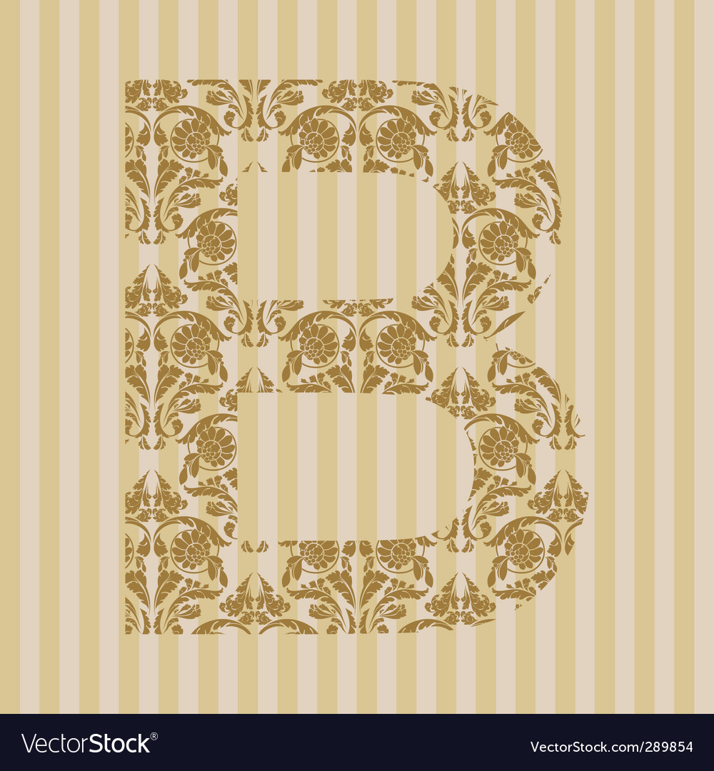 Floral font letter vector | Price: 1 Credit (USD $1)
