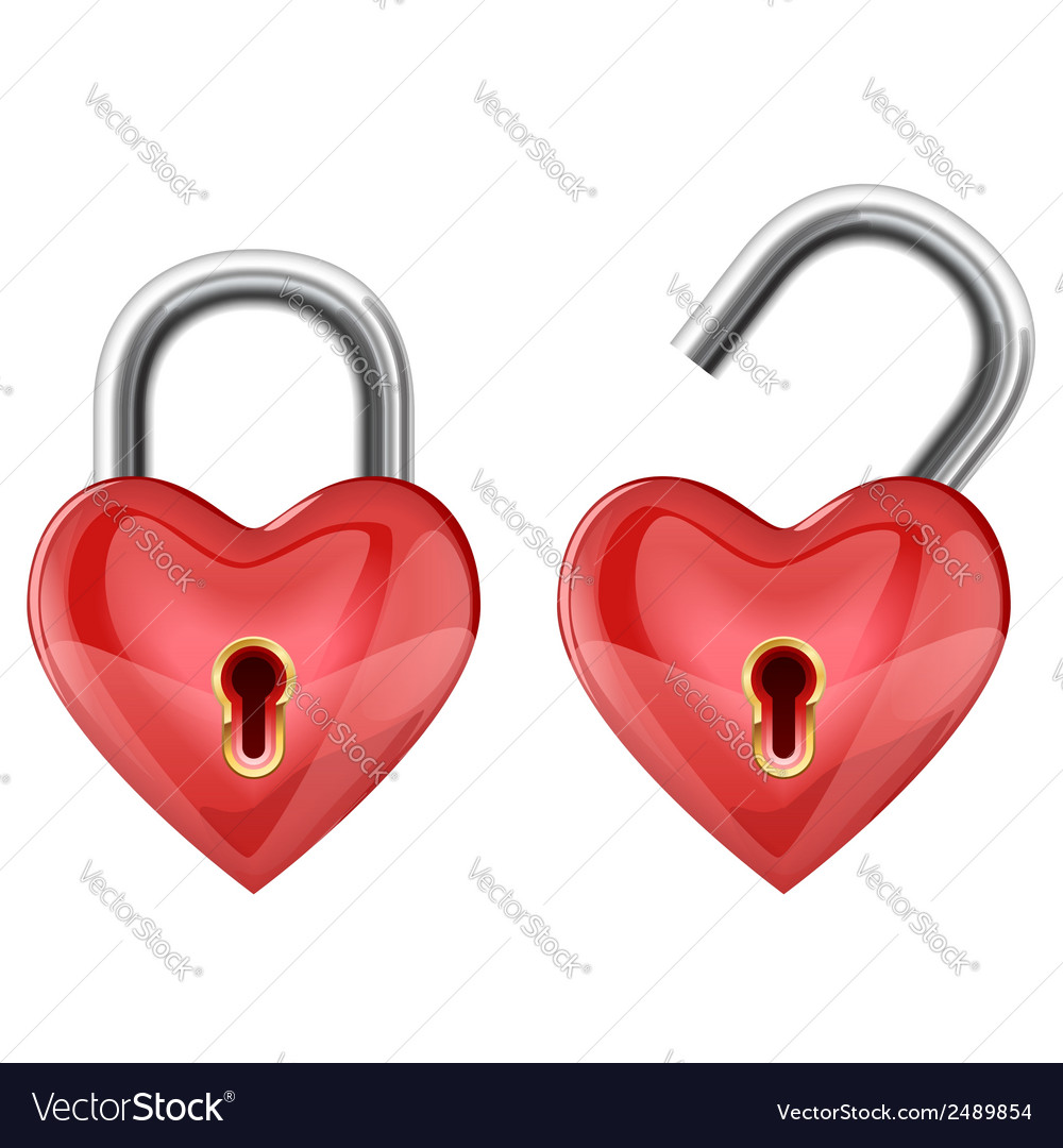 Heart padlock vector | Price: 1 Credit (USD $1)