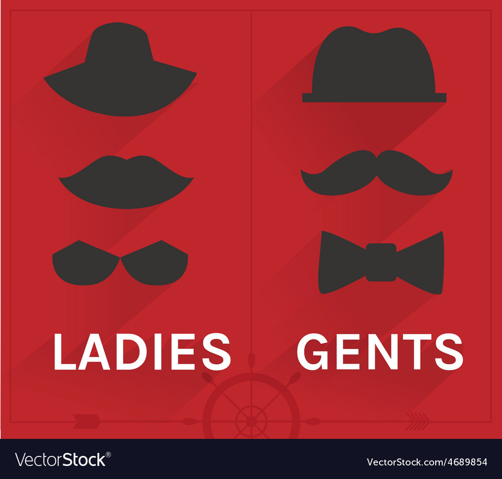 Ladies and gents hipster set vector | Price: 1 Credit (USD $1)