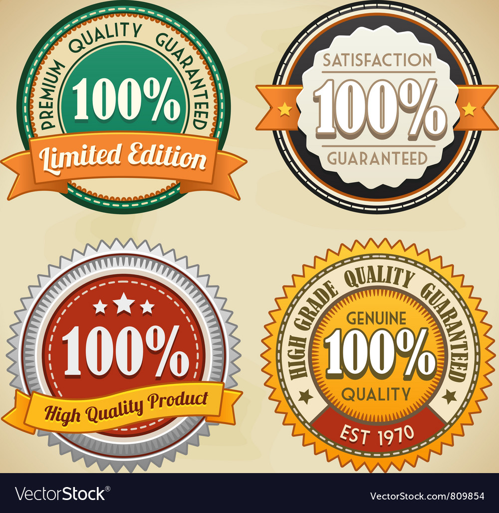 Retro badges set vector | Price: 3 Credit (USD $3)
