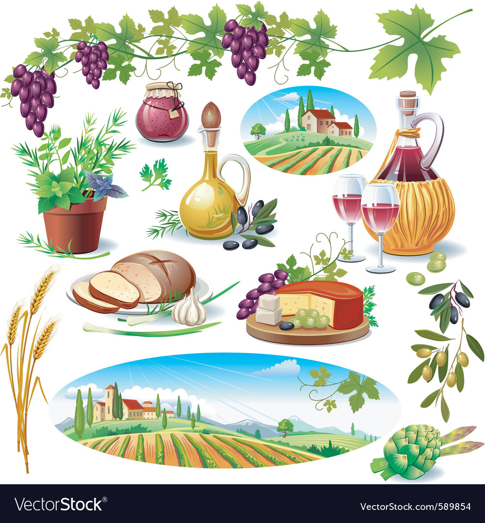 Set of food vector | Price: 3 Credit (USD $3)