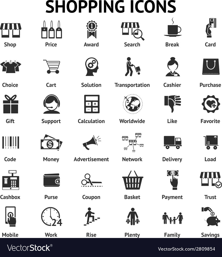 Shopping and sales icons vector | Price: 1 Credit (USD $1)