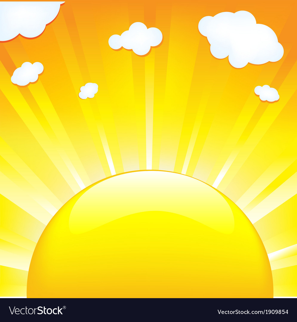 Sun with beams vector | Price: 1 Credit (USD $1)