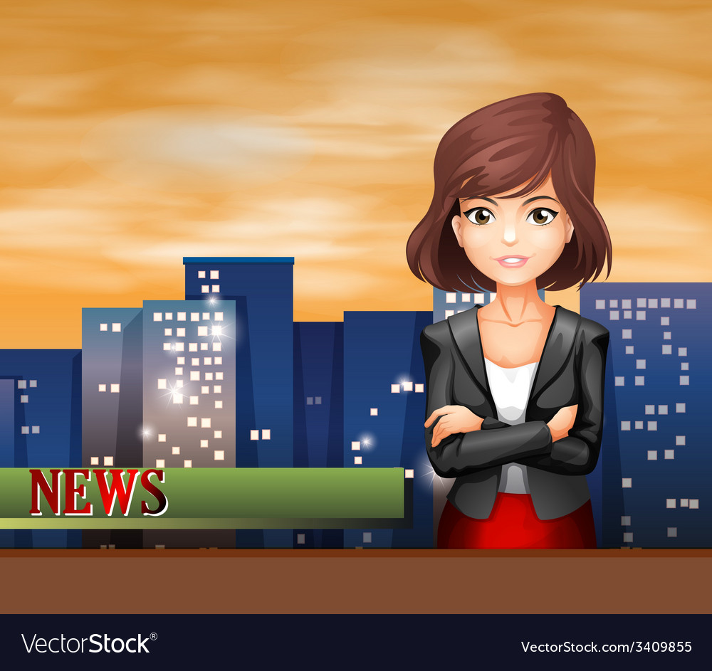 A female reporter vector | Price: 3 Credit (USD $3)