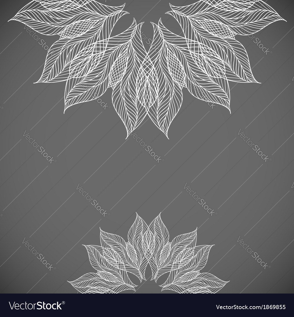 Abstract background with lacy flower vector | Price: 1 Credit (USD $1)