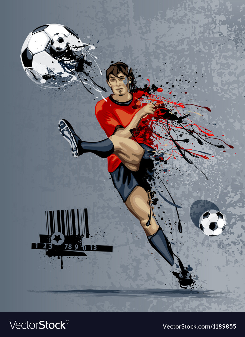 Abstract image of soccer player vector | Price: 3 Credit (USD $3)