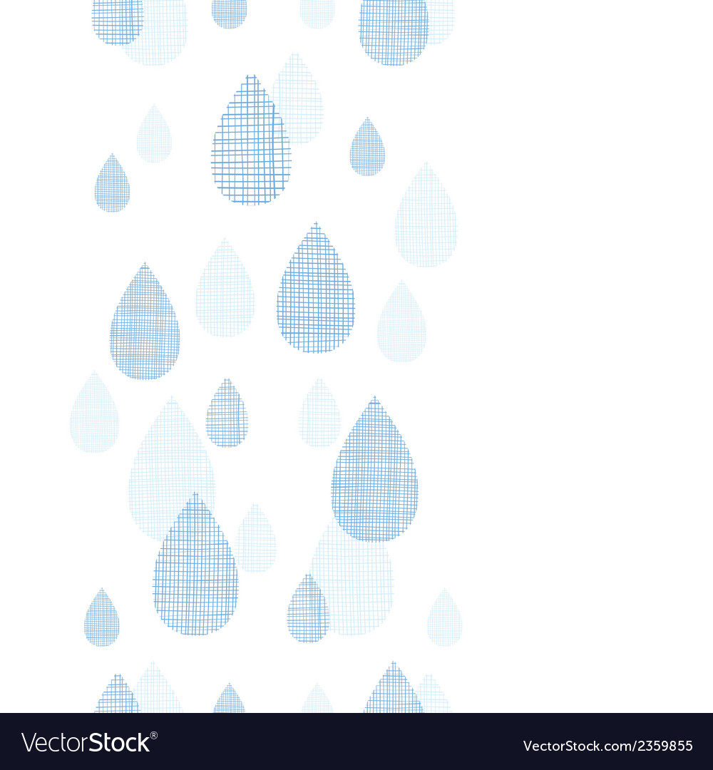 Abstract textile blue rain drops vertical seamless vector | Price: 1 Credit (USD $1)